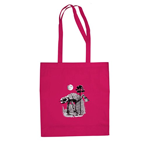 SW: AT-AT Peeing - Stofftasche / Beutel Pink