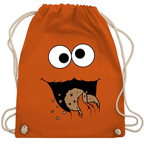 Karneval & Fasching - Keks-Monster - Unisize - Orange - WM110 - Turnbeutel & Gym Bag