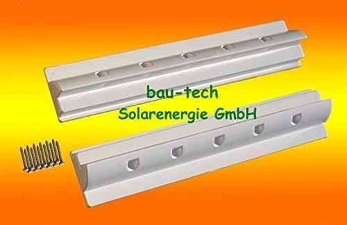 2 x Dachspoiler 55cm weiss Haltespoiler Wohnmobil Dachbefestigung für Solarmodul von bau-tech Solarenergie GmbH