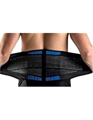 Back Support Belt, EONANT Deluxe Neoprene Double Pull Lumbar Support Lower Back Belt Brace for Back / Slipped Disc Pain Relief