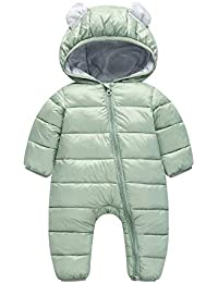13202b80dcf0dd Longra Baby Schneeanzüge Winter Overall mit Kapuzen Footed Daunen Strampler  Spielanzug für Baby Jungen Mädchen Dicke