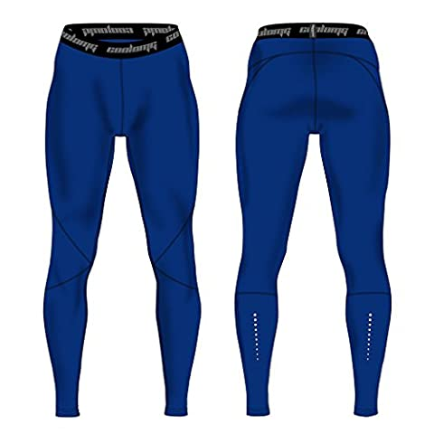 COOLOMG Men's Compression Pants Running Tights Baselayer Cool Dry Long Pants Sports Leggings Royal Blue Adults