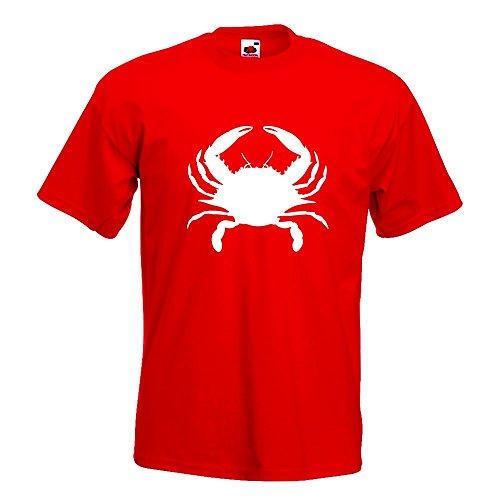 KIWISTAR - Krebs Cancer T-Shirt in 15 verschiedenen Farben - Herren Funshirt bedruckt Design Sprüche Spruch Motive Oberteil Baumwolle Print Größe S M L XL XXL Rot