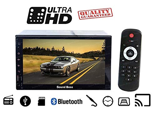 Sound Boss 7inch HD Bluetooth MP5 player TFT Touch Screen FM RDS Radio Car Video USB TF Aux Input Color Screen Car Stereo (SB-9318)