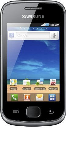 Samsung Galaxy Gio (S5660), smartphone (8.13 centimetri (3,2 pollici) touch screen, fotocamera da 3 megapixel, Android 2.2), argento scuro