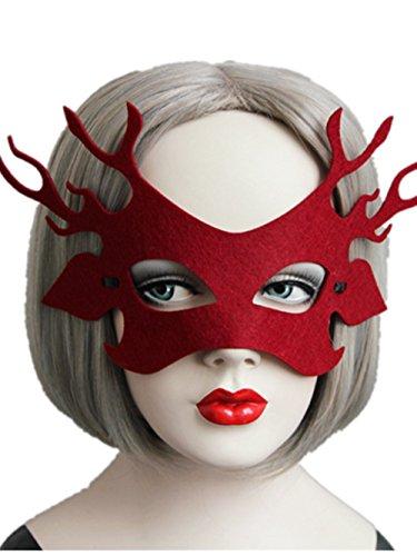 b Schläger Hirsch Treeman Hälfte Gesichtsmaske Gaze Spielen Ball Party Bar Maskerade Sexy Eyemask Schleier - Maske (Style 5) (Kinder Costomes)