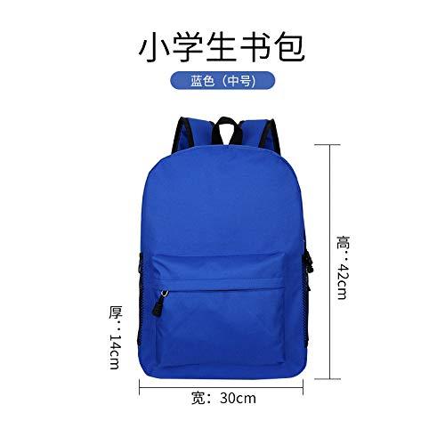 Mochila Escolar,Gran Capacidad De Mochila Azul Simple Casual Apto para Niños Estudiante...