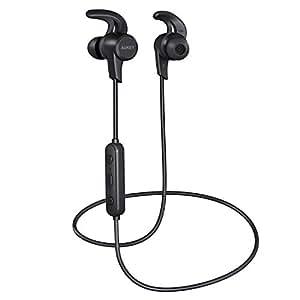 AUKEY Oreillette Bluetooth avec aptX et 3 Modes EQ, Ecouteurs Bluetooth Magnétique, Resistantes à l'eau compatible avec iPhone, Samsung , Apple watch, etc
