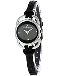 Ted Lapidus - A0285RNIN - Montre Femme - Quartz Analogique - Bracelet en Cuir Noir