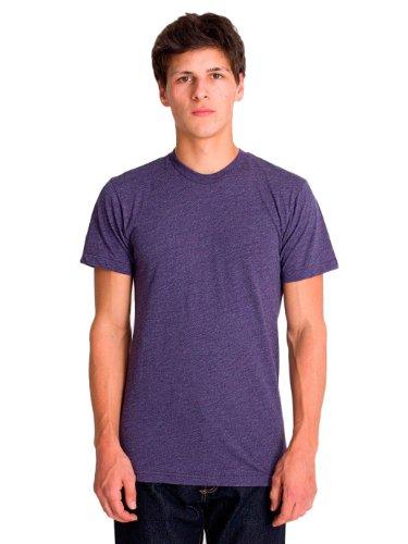 american-apparel-da-donna-in-cotone-maniche-corte-girocollo-colore-viola-imperiale-taglia-m-colore-e