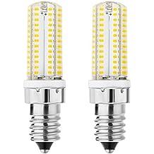 rayhoo 2pcs E14Base 104-SMD blanco cálido 220V 5W LED bombillas, 40W bombilla incandescente equivalente, no regulable, 5800–6200K, 300–320lm (blanco cálido)