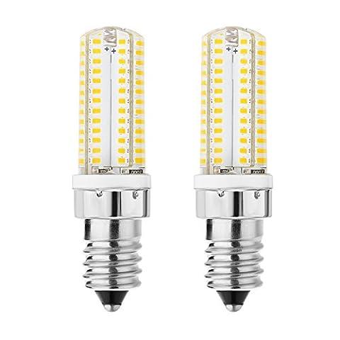 rayhoo 2E14base 104-smd Blanc chaud 220V 5W Ampoules LED, ampoules à incandescence 40W équivalent, non compatible avec variateur d'intensité, 5800–6200K, 300–320LM (Blanc chaud)