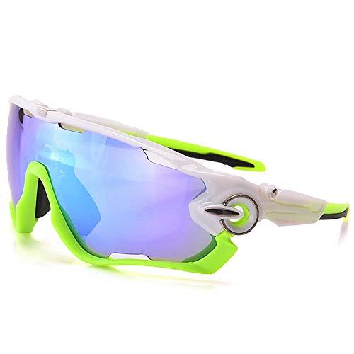 yanzi Sport-Sonnenbrille Outdoor Männer und Frauen reiten Spiegel reflektierende explosionsgeschützte DREI Stücke von polarisiertem Licht,Green