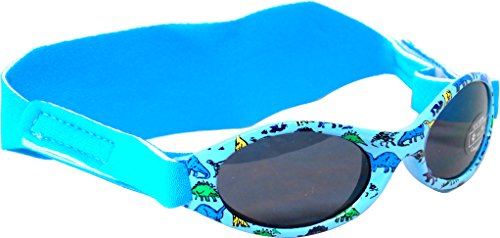 Edz Kidz Sunnyz Sonnenbrille für Babys unter 2 Jahren Mit Kopfband! (Blau Dinosaurier)