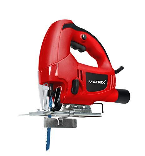 Matrix 130100060 Stichsäge, Pendelhub 4 fach Einstellbar, 610 Watt, Schnittwinkel verstellbar, Staubsaugeradapter