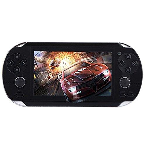 LanLan Elektronische Spielekonsole mit Zubehör, 4,3 Zoll, PSP, multifunktional, tragbar, Game-Konsole, 4G, Memory Built in Video Camera Various Norepeat Games schwarz