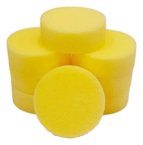 PolySound Sylo High-End Lautsprecher Füße, Schwingungsdämpfer 8er Set gelb 2-6kg - materialschonend mit Wasser geschnitten - Nicht gestanzt - Made in Germany
