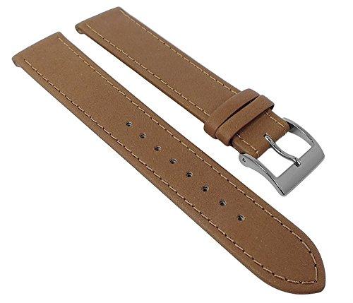 Junghans MAX BILL Ersatzband Uhrenarmband Leder beige 18mm 027/3701