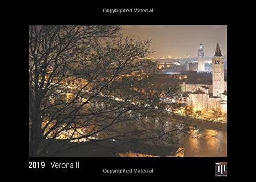 Verona II 2019 - Black Edition - Timocrates wall calendar, picture calendar, photo calendar - DIN A3 (42 x 30 cm)