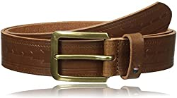 Tommy Hilfiger Mens 35mm Serape Emboss Belt, Brown, 36