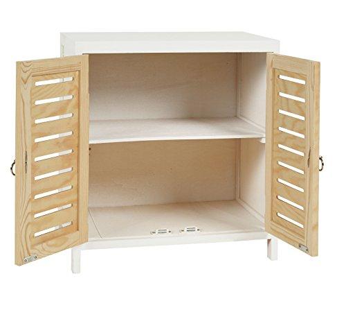 Ts ideen c moda y mesita noche en color madera y blanco - Ikea mesitas de noche y comodas ...