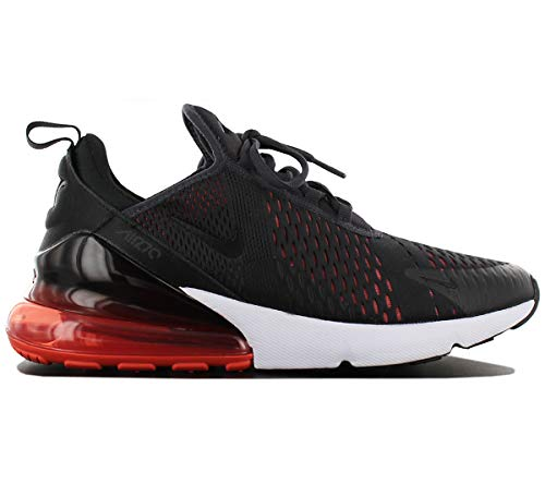 NIKE Air Max 270 Men's Shoes Oil Grey/Habanero Red ah8050-013 (12 D(M) US)