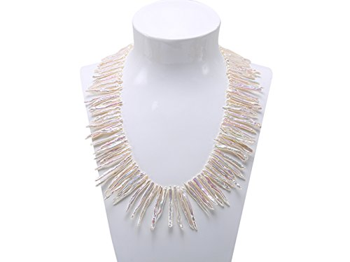�mm weiß biwa Süßwasser Pearl Halskette 45,7cm (Weiß Kontakte Kostüm)