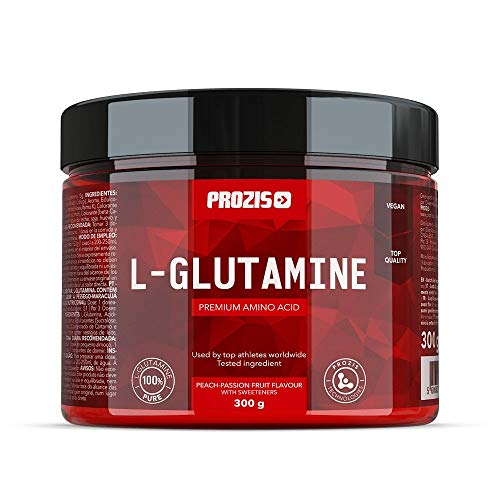 Prozis L-Glutamine, Melocotón y Maracuyá - 300 gr