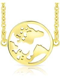 Ansané   Neu – Weltkugel Armband – 18 Karat Echtgold Plattierung   in  Silber, Rose, Gold   16cm + 5cm (extra)  … 34f27e5be8