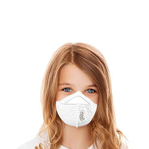 Colorful Kinder Staubmasken Atemschutzmasken, Filtermaske N95 Gesichtsmasken mit Valve PM2.5 Staub-Maske für Partikel Stoff Aktivkohlefilter Mund Abdeckung Filter 2-14 Jahre Jungen Mädchen (24 Pack)