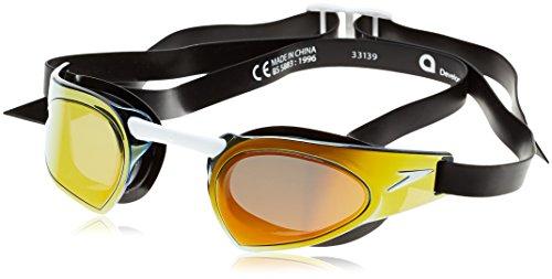 speedo-fastskin-prime-occhialino-rosso-nero-gold-mirror