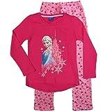 Frozen - Die Eiskönigin Mädchen Schlafanzug ELSA Pyjama (Fuchsia, 98-104)