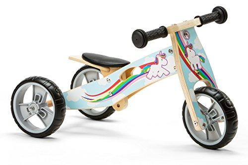 Nicko NIC814 Trike en bois Licorne, Taille L - Version Anglaise