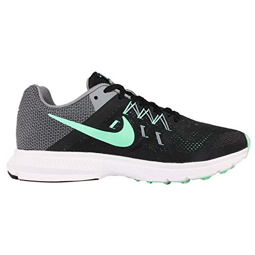 Nike Wmns Zoom Chaussures WinfloSports de formation BLACK/GREEN GLOW-COOL GREY-WHITE