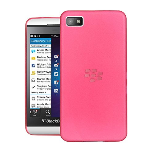 Cheetah Air Skin Blackberry Z10 Case with Semi-transparent Lightweight Material Back Cover Case for Blackberry Z10 - Red  available at amazon for Rs.345