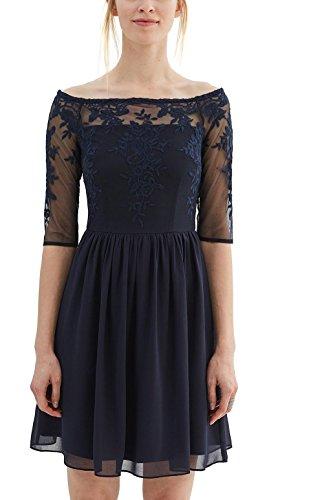 ESPRIT Collection Damen Kleid 037EO1E009, Blau (Navy 400), 40 (Herstellergröße: L)
