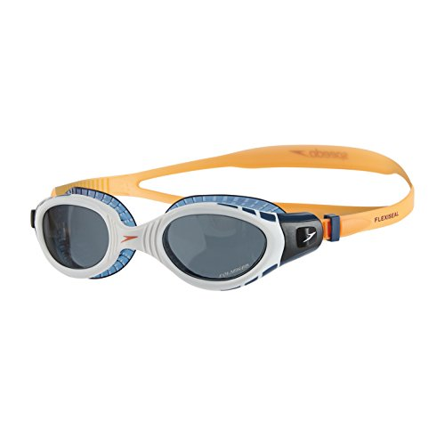 Speedo Futura Biofuse Flexiseal Triathlon Goggles, Fluo Orange/White/Smoke, One Size