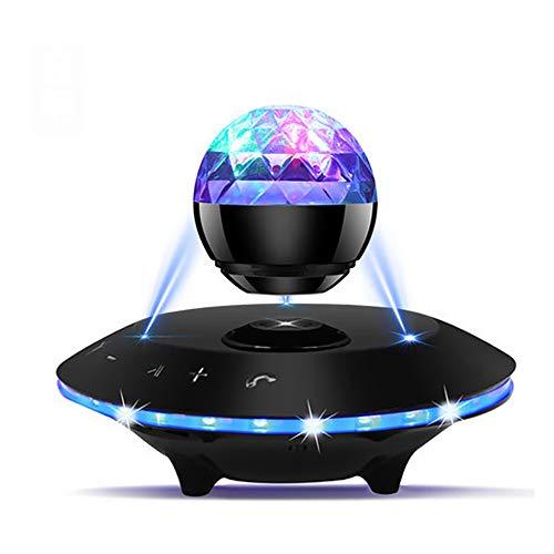 Jackcer Schwebender Lautsprecher, schwebender Lautsprecher mit Bluetooth 4.1, 360 Grad-Drehung, Touch-Control-Taste und Bunte LED-Blinkanzeige,2 Control-taste 2