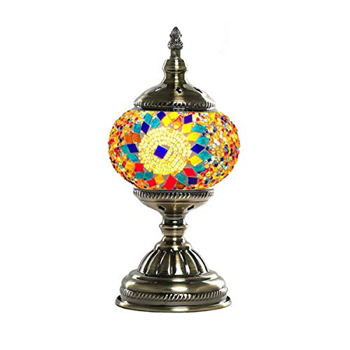Marokkanische Schlafzimmer Dekor (GDLight 5,5-Zoll-türkische marokkanische Mosaik Tischlampe 2019 handgefertigte Schreibtisch Nachtlicht Nachtlampe für Wohnzimmer Schlafzimmer Kaffee Dekor, E14)