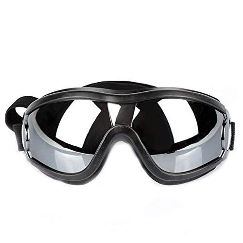 MuzMuzTV Haustier-Sonnenbrille für Hunde und Welpen, UV-Schutzbrille, wasserdicht, Winddicht, mit verstellbarem Gurt, Sonnenbrille für große und mittelgroße Hunde