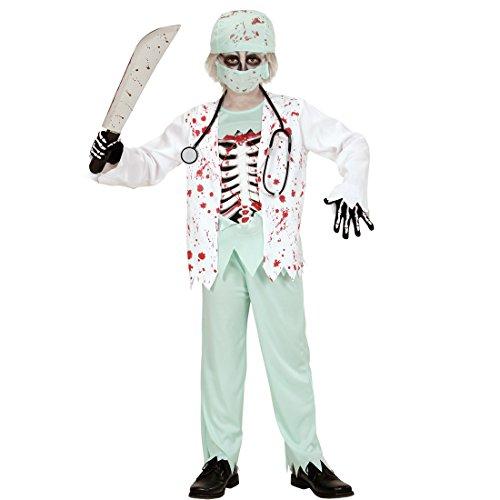 Imagen de disfraz infantil zombie traje doctor niño s 128 cm años 5 7 atuendo para halloween vestimenta médico chico cirujano de los horrores muchacho ropa hospital niños