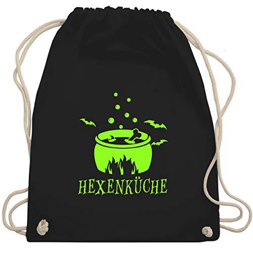 Halloween - Hexenküche - Unisize - Schwarz - WM110 - Turnbeutel & Gym (Schwarze Fee Halloween Kostüm Ideen)