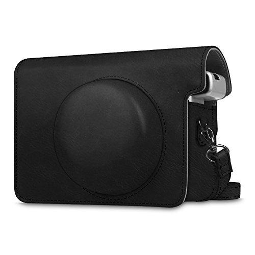 Fintie Schutzhülle für Fujifilm instax Wide 300 Sofortbildkamera - Premium Kunstleder Tasche Reise Kameratasche Hülle Abdeckung mit abnehmbaren Riemen, Schwarz