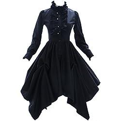 JL de 575Negro gótico punk visuel Kei Kera–Lolita vestido Disfraz Dress Cosplay kawaii de Story