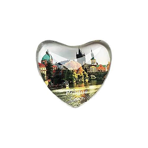 3D Prag Tschechische Kühlschrank Kühlschrankmagnet Kristall Glas Handgemachte Tourist Travel Souvenir Sammlung Geschenk Whiteboard Magnetischen Aufkleber Dekoration - Tschechische Gläser Kristall