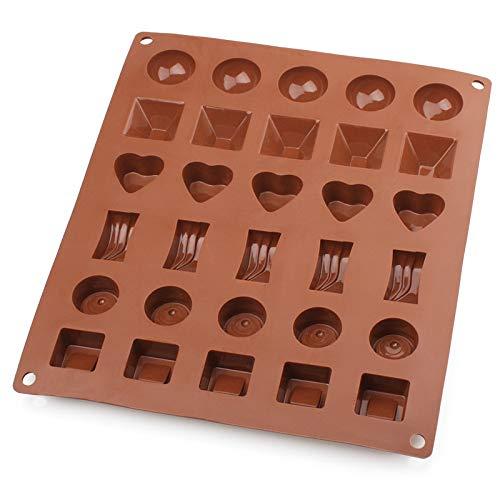 Gj Schokolade (Unbekannt Kreative Handform, Platin-Silikon-Schokoladen-Form, Stereo-Schokoladen-Pudding-Backen-Werkzeuge,Kaffee,Schimmel GJ)