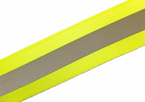 """Image of Reflexband / Sicherheitsband mit Reflexstreifen """"Neongelb"""" 25 mm / zum aufbügeln (10 Meter)"""