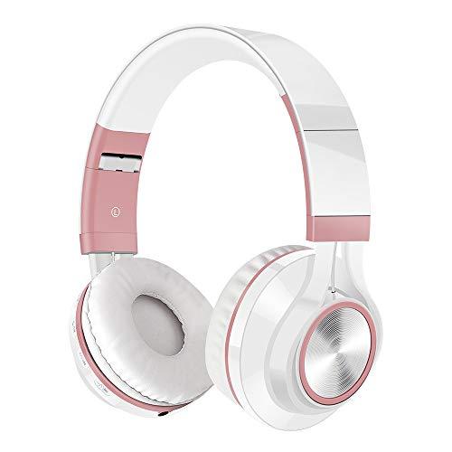 2019Beats cavo wireless Bluetooth pieghevole cuffie Hi-Fi stereo con microfono SD/TF Card Misura unica,rose gold