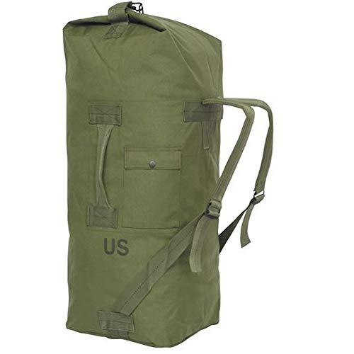 GI US Army Original Militär Issue Duffle Bag Cordura Nylon 2 Tragegurte Rucksack Sea Bag Bug Out Bag Olive Drab, Oliver Drab -