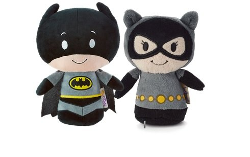 Hallmark DC Comics Itty Bitty Set of 2 Batman and Cat Woman Soft Toy